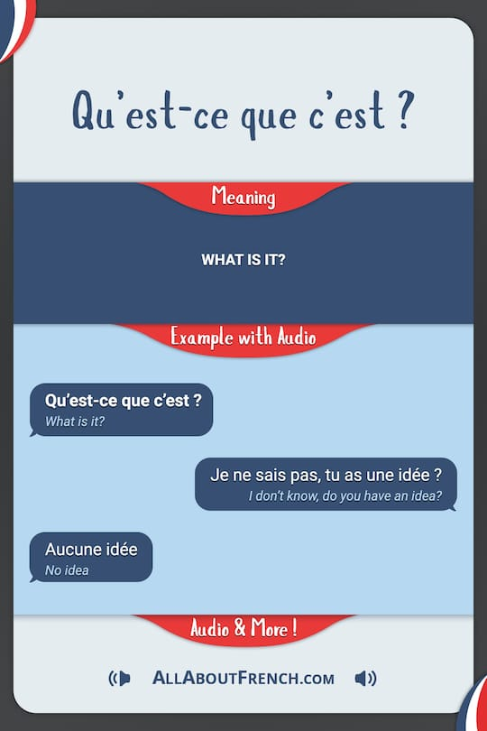 example of french dialogue script